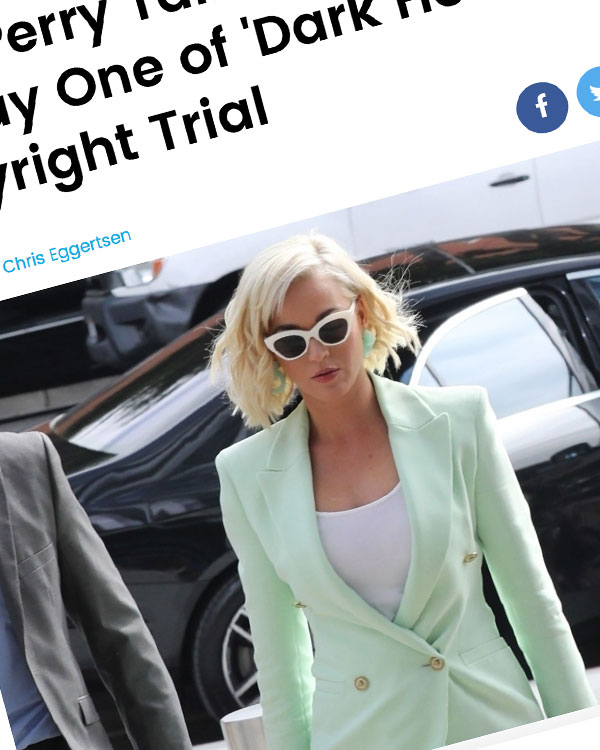 Fairness Rocks News Katy Perry Takes the Stand on Day One of 'Dark Horse' Copyright Trial