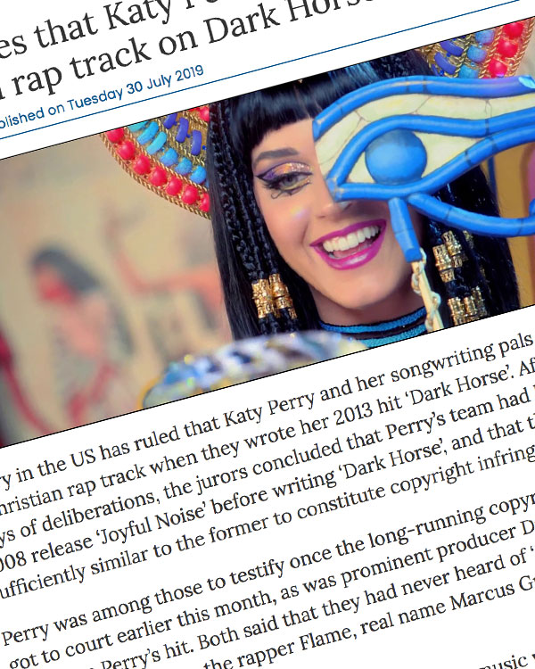 Fairness Rocks News Court rules that Katy Perry ripped off Christian rap track on Dark Horse
