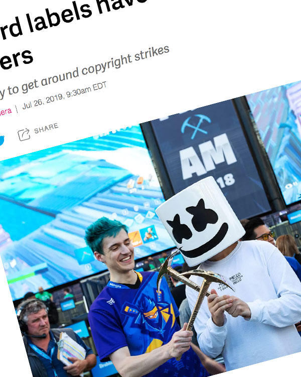 Fairness Rocks News Record labels have a new target: streamers and gamers