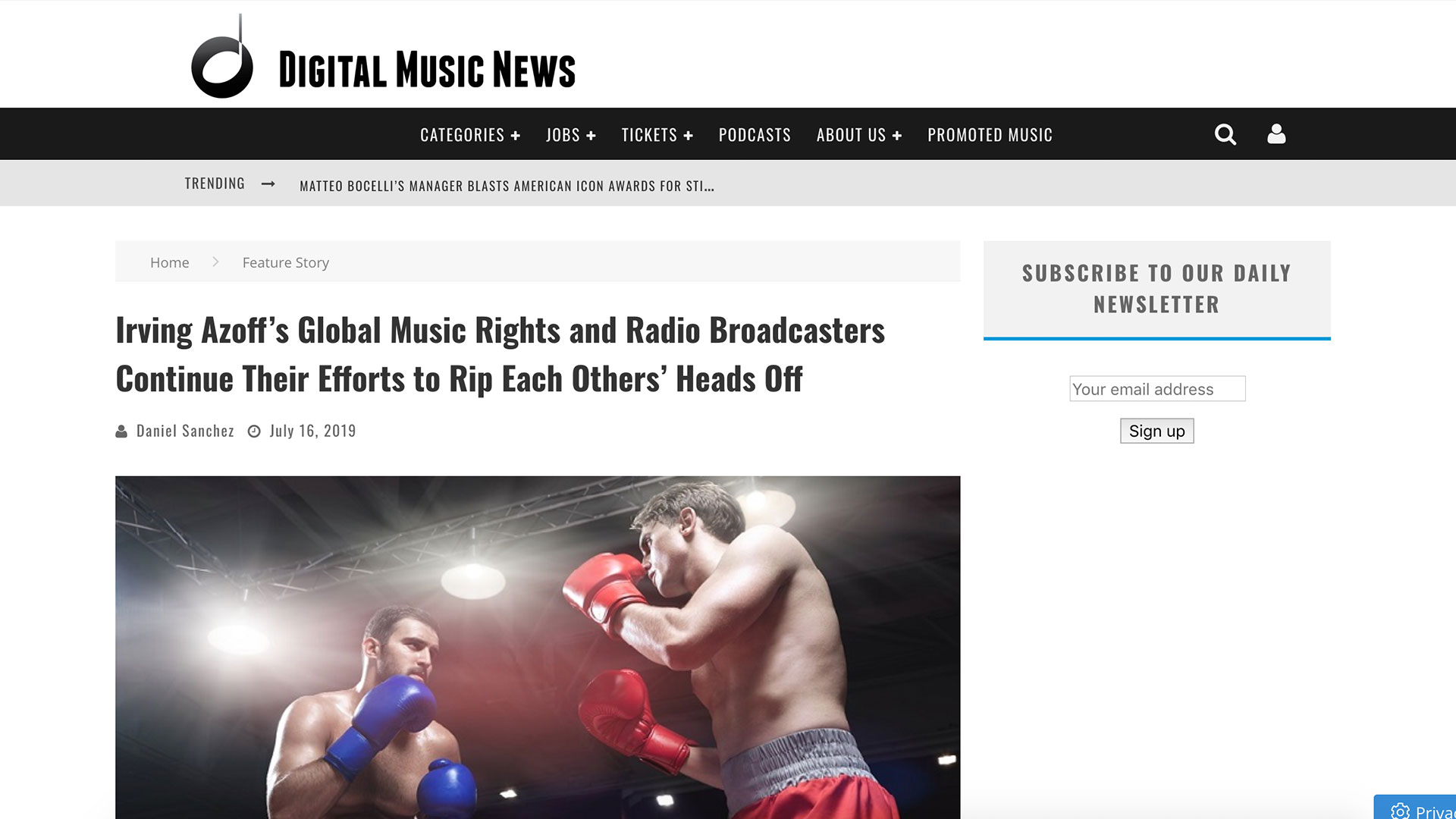Fairness Rocks News Irving Azoff's Global Music Rights and Radio Broadcasters Continue Their Efforts to Rip Each Others' Heads Off