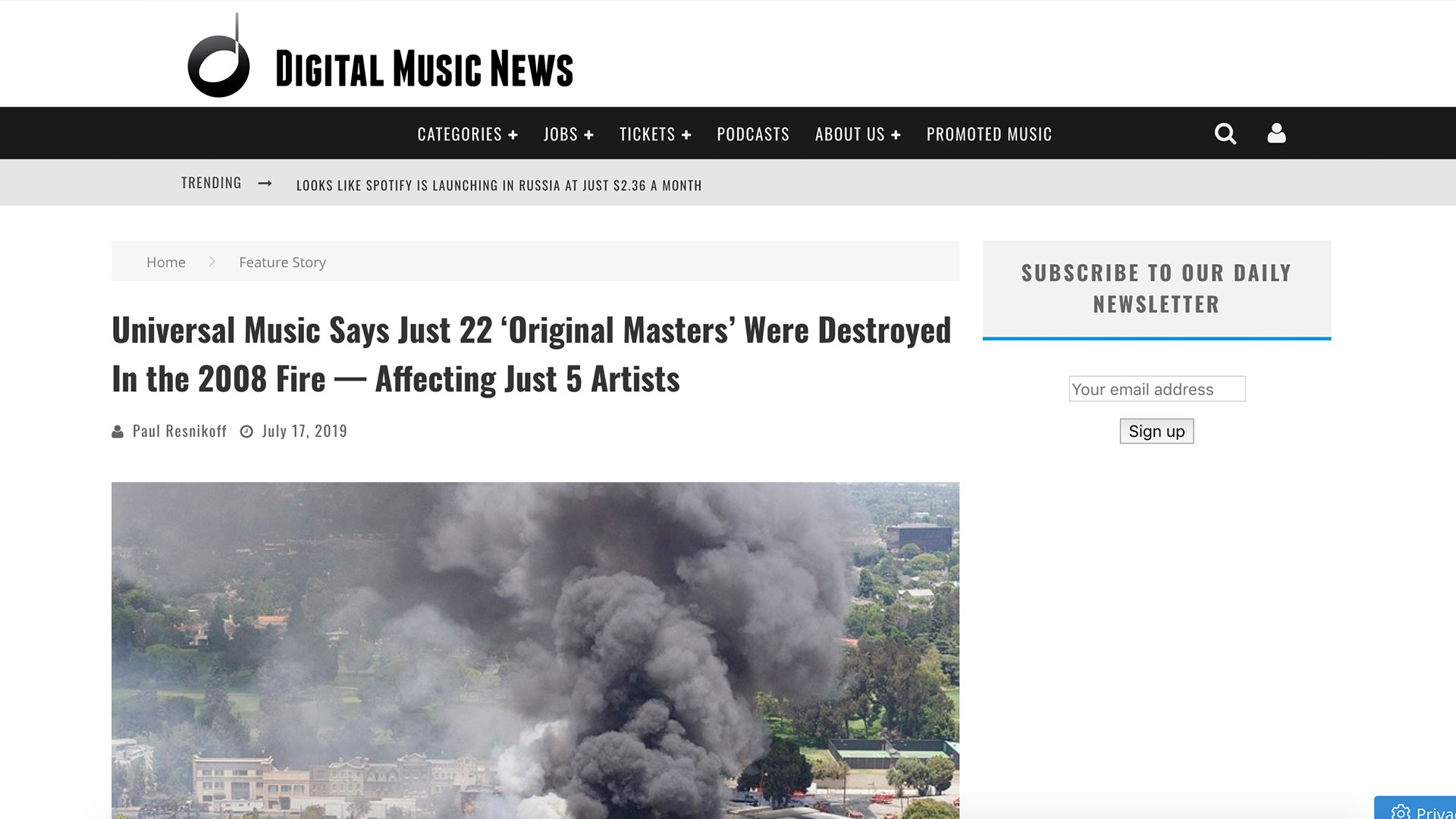 Fairness Rocks News Universal Music Says Just 22 'Original Masters' Were Destroyed In the 2008 Fire — Affecting Just 5 Artists