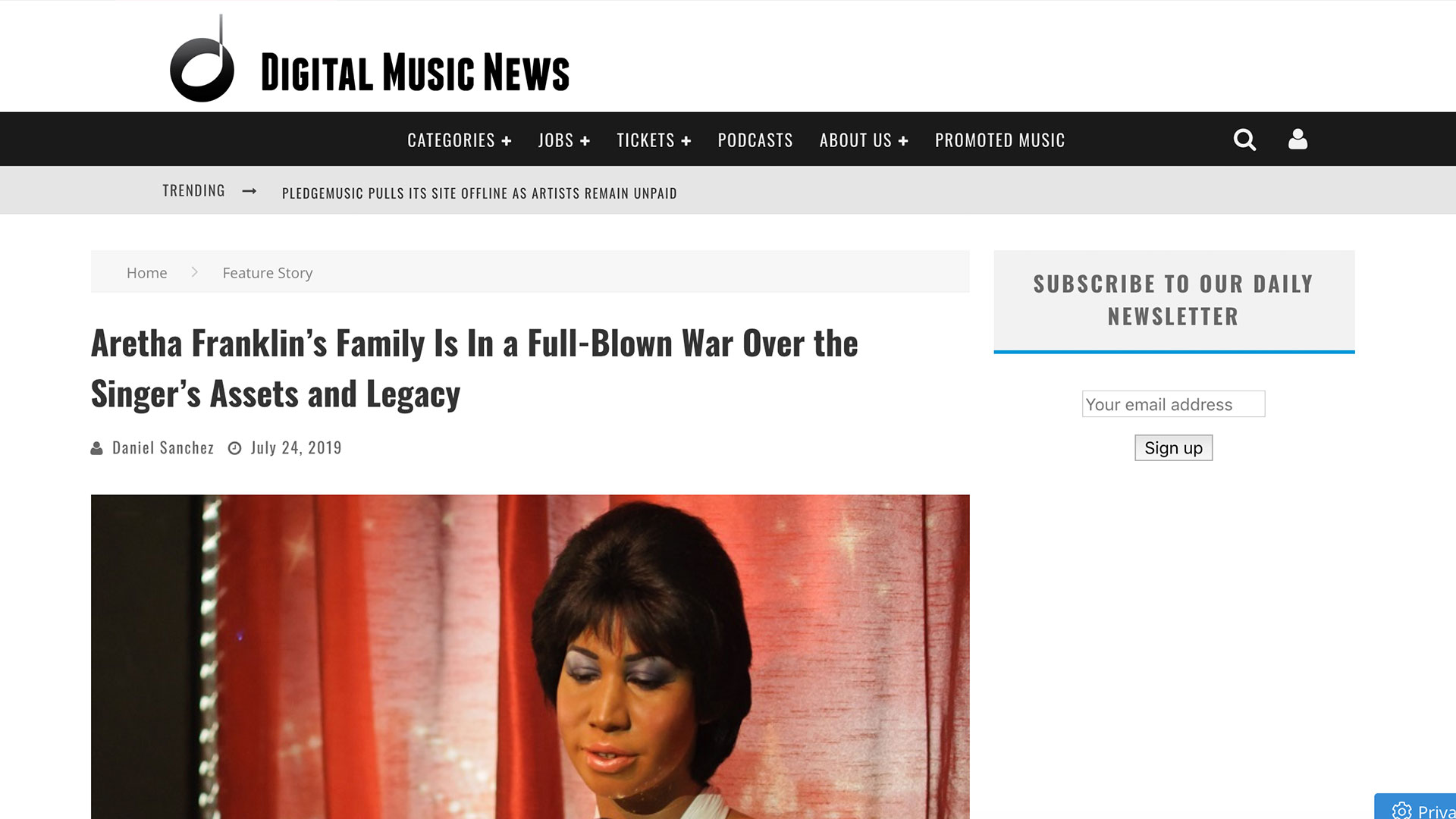 Fairness Rocks News Aretha Franklin's Family Is In a Full-Blown War Over the Singer's Assets and Legacy