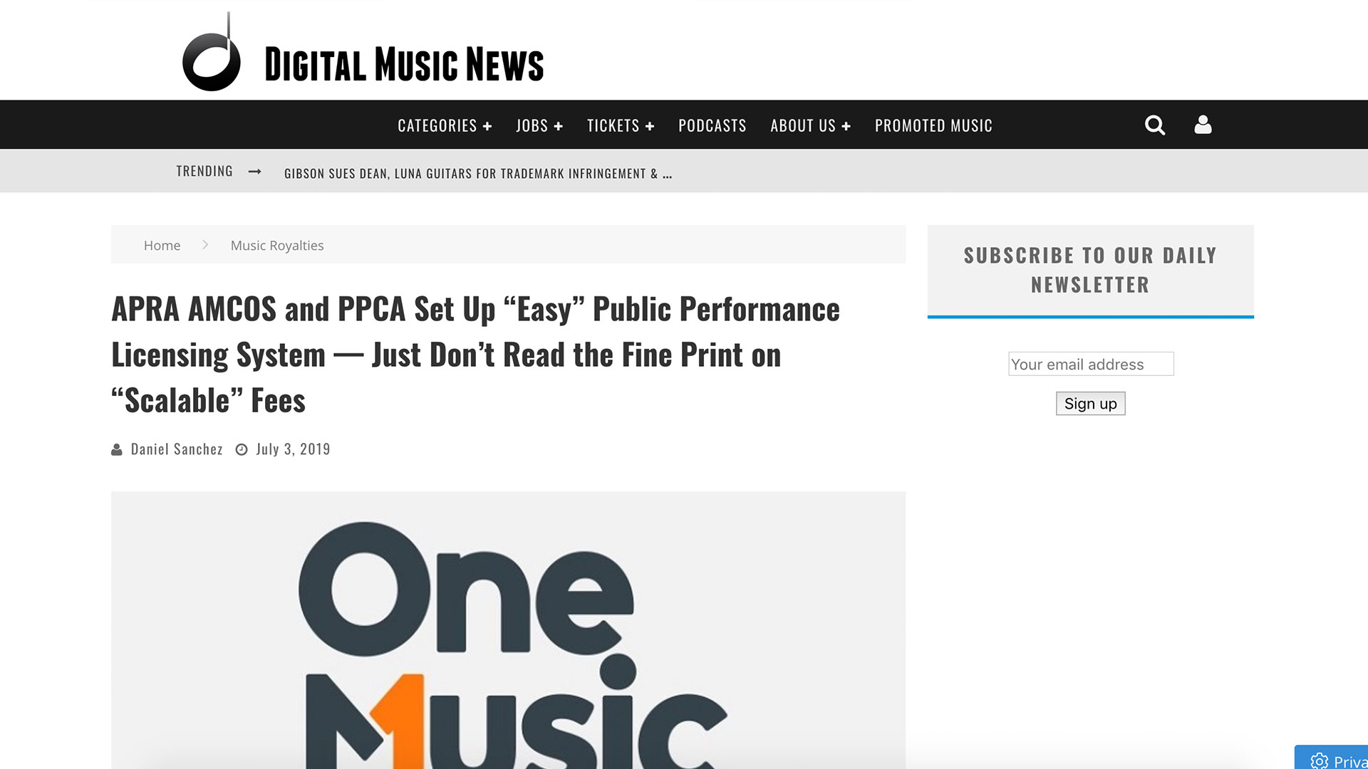 "Fairness Rocks News APRA AMCOS and PPCA Set Up ""Easy"" Public Performance Licensing System — Just Don't Read the Fine Print on ""Scalable"" Fees"