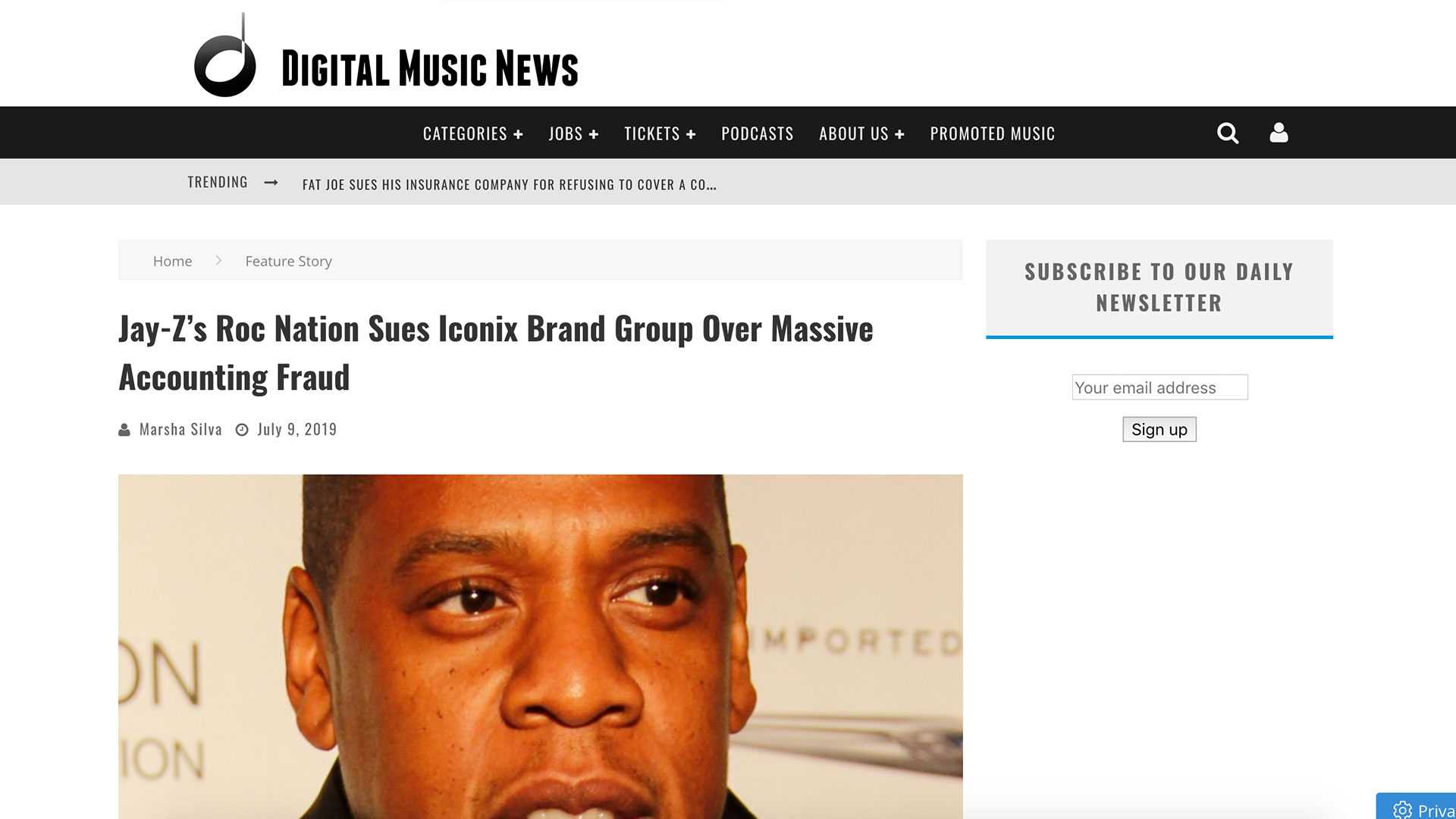 Fairness Rocks News Jay-Z's Roc Nation Sues Iconix Brand Group Over Massive Accounting Fraud