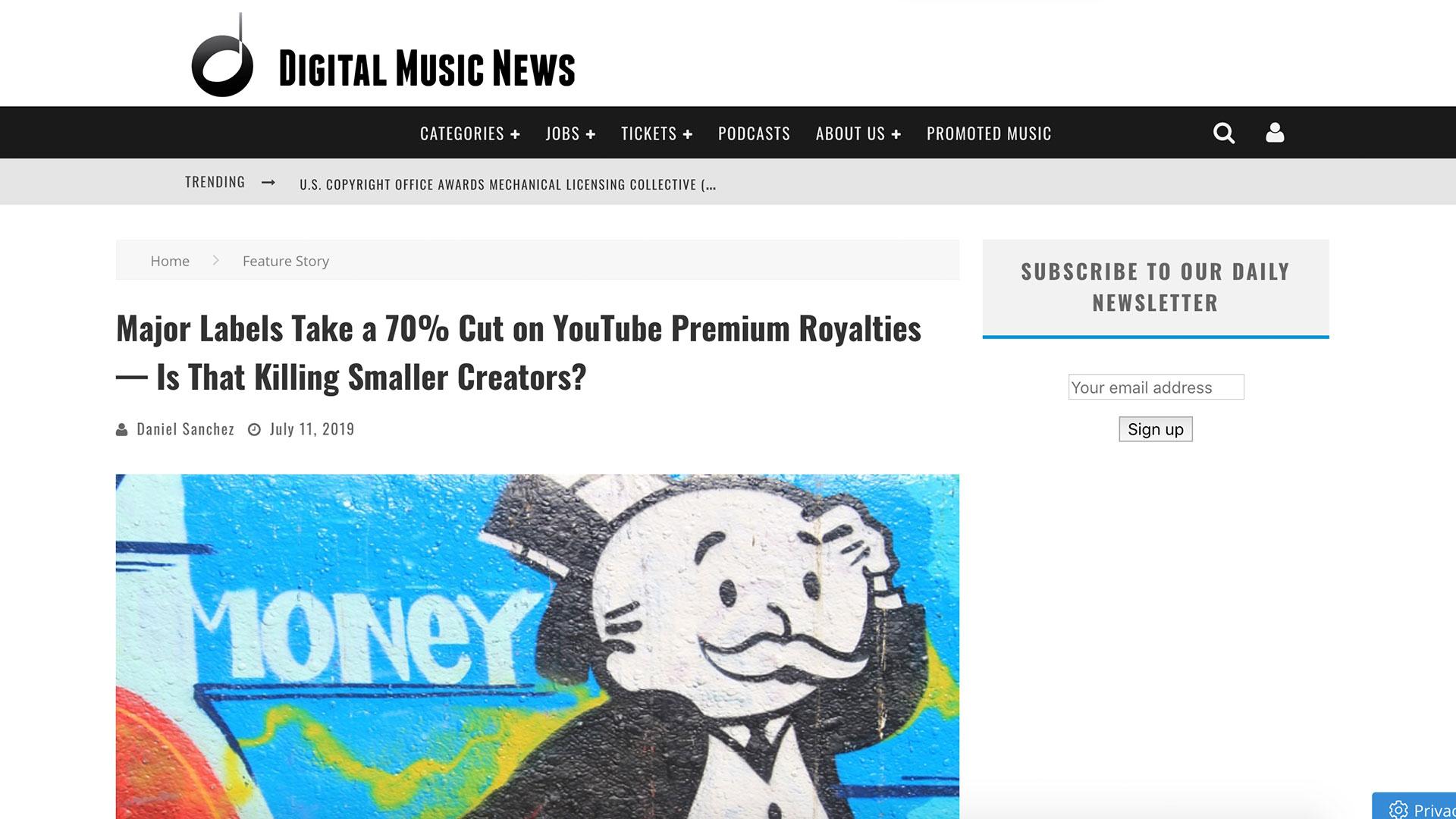 Fairness Rocks News Major Labels Take a 70% Cut on YouTube Premium Royalties — Is That Killing Smaller Creators?