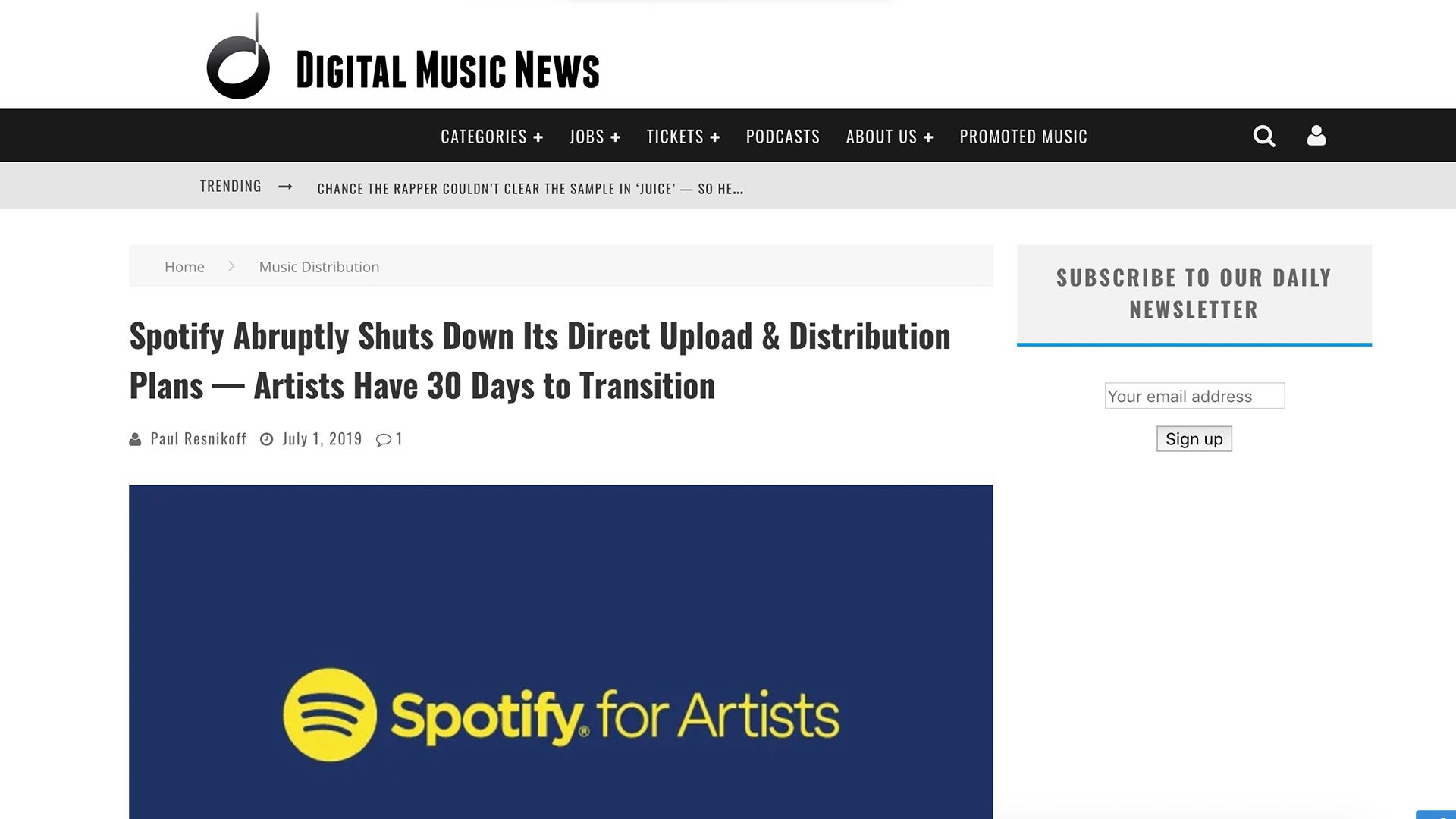 Fairness Rocks News Spotify Abruptly Shuts Down Its Direct Upload & Distribution Plans — Artists Have 30 Days to Transition