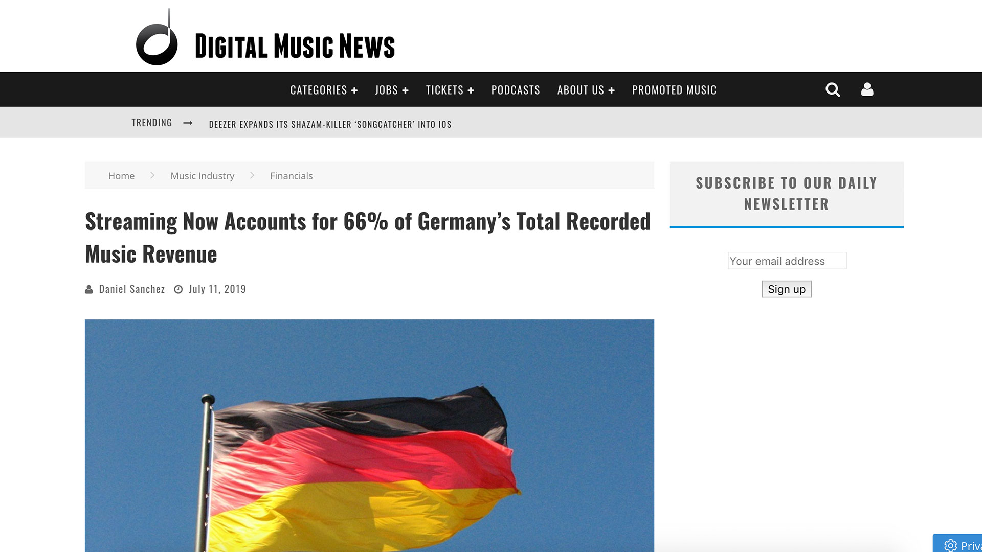 Fairness Rocks News Streaming Now Accounts for 66% of Germany's Total Recorded Music Revenue