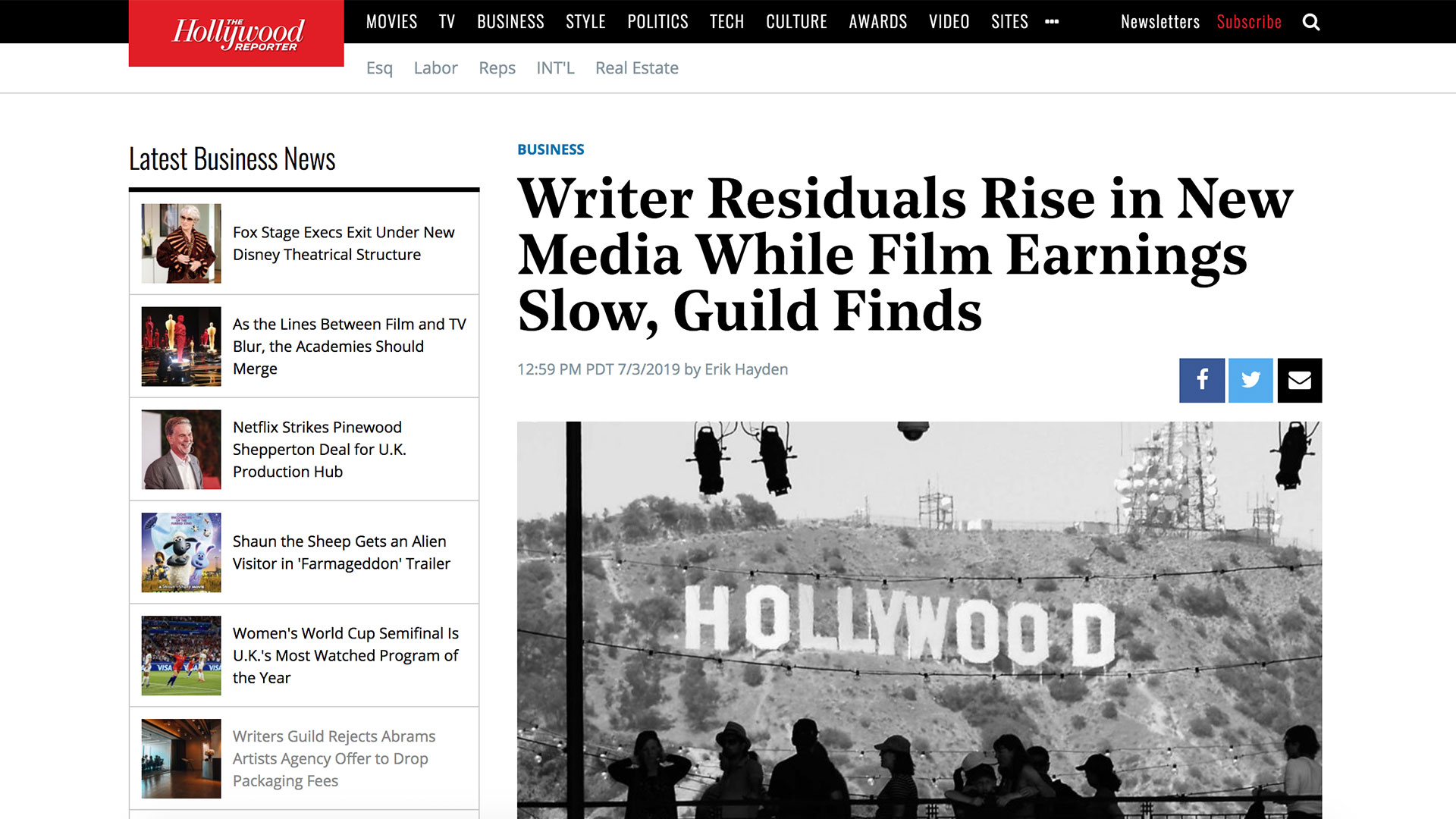 Fairness Rocks News Writer Residuals Rise in New Media While Film Earnings Slow, Guild Finds