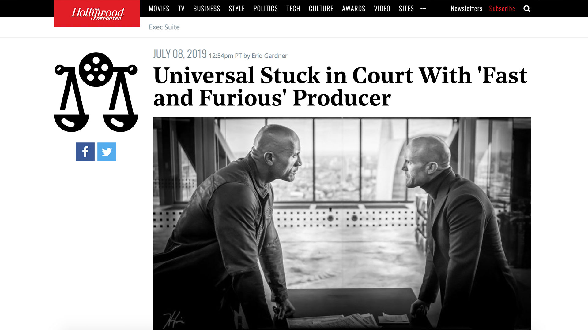 Fairness Rocks News Universal Stuck in Court With 'Fast and Furious' Producer
