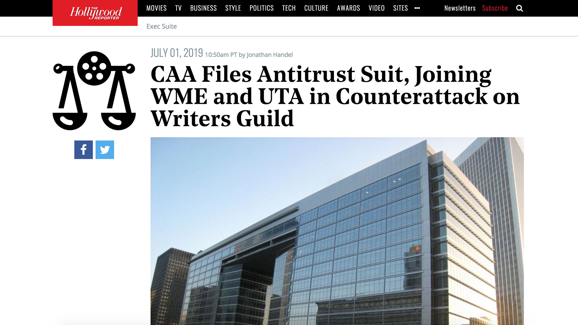 Fairness Rocks News CAA Files Antitrust Suit, Joining WME and UTA in Counterattack on Writers Guild
