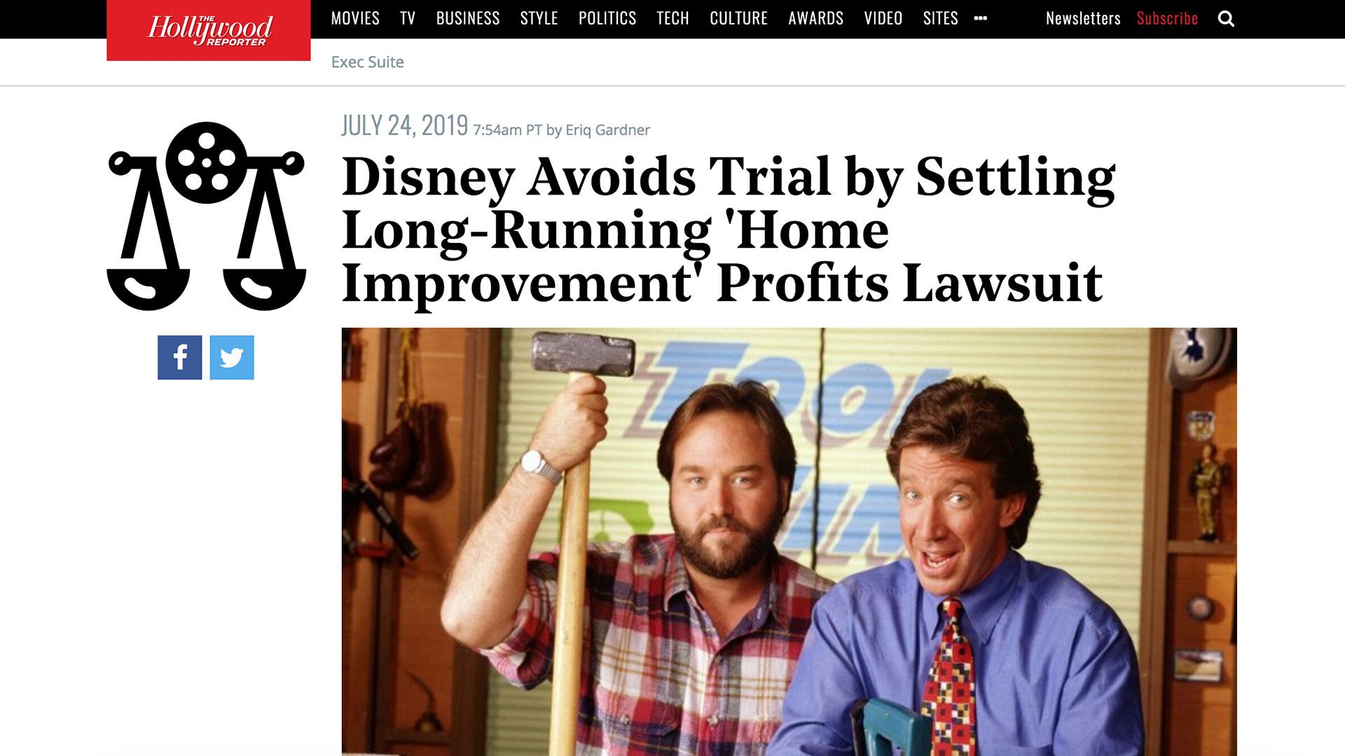 Fairness Rocks News Disney Avoids Trial by Settling Long-Running 'Home Improvement' Profits Lawsuit