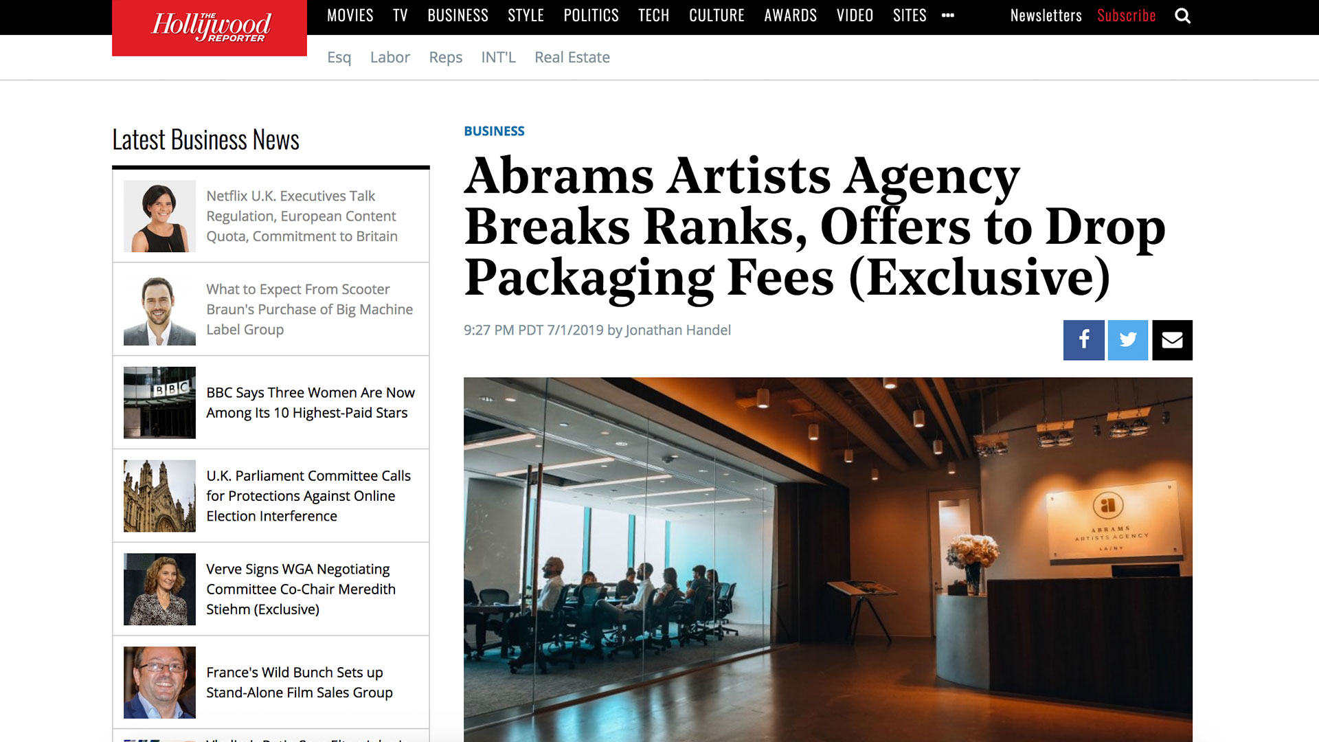 Fairness Rocks News Abrams Artists Agency Breaks Ranks, Offers to Drop Packaging Fees (Exclusive)