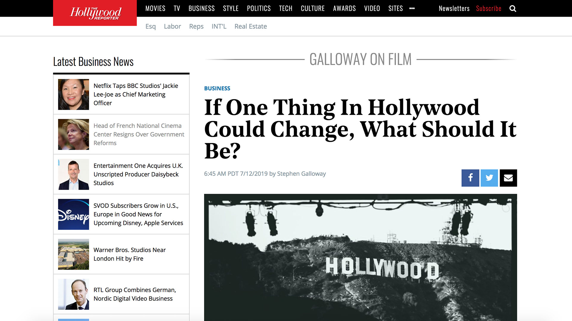 Fairness Rocks News If One Thing In Hollywood Could Change, What Should It Be?