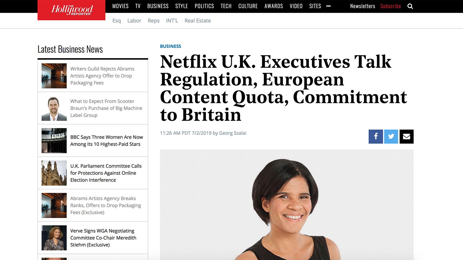 Fairness Rocks News Netflix U.K. Executives Talk Regulation, European Content Quota, Commitment to Britain