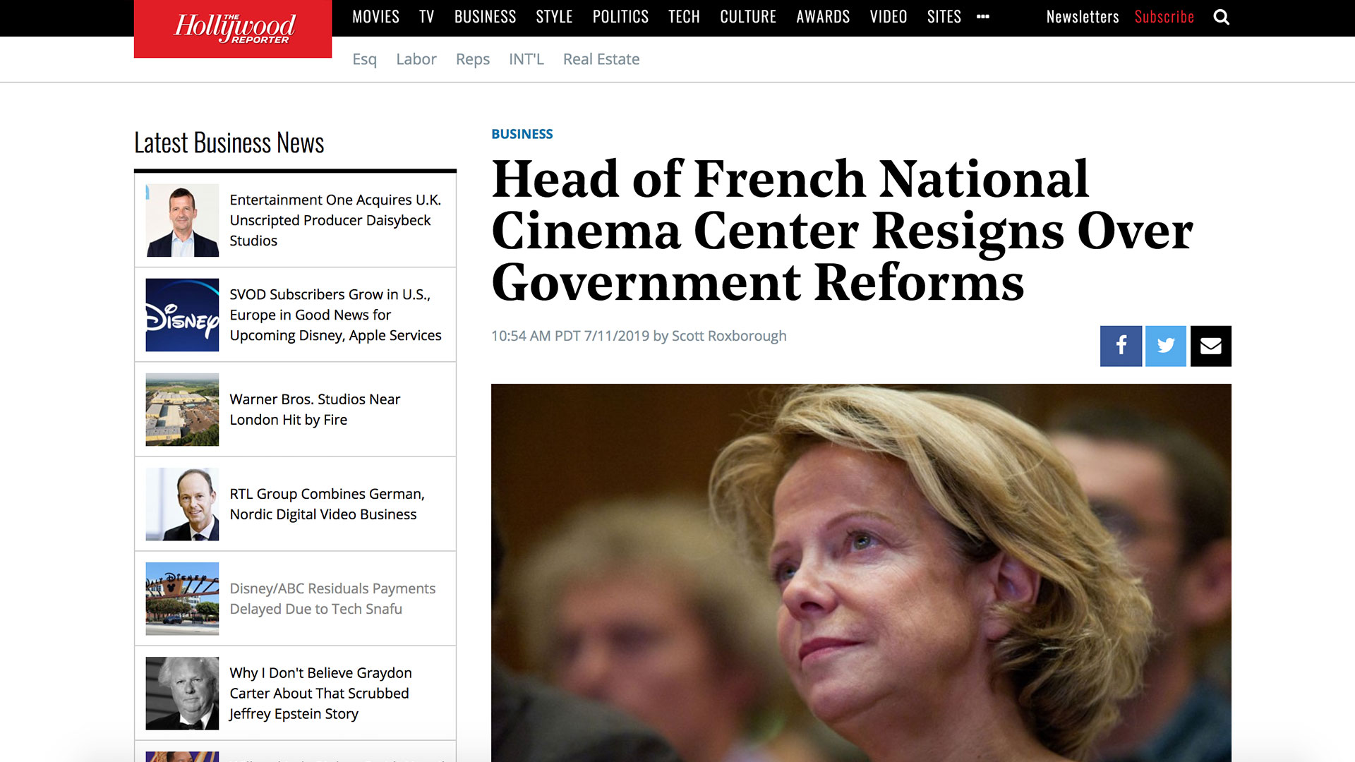 Fairness Rocks News Head of French National Cinema Center Resigns Over Government Reforms