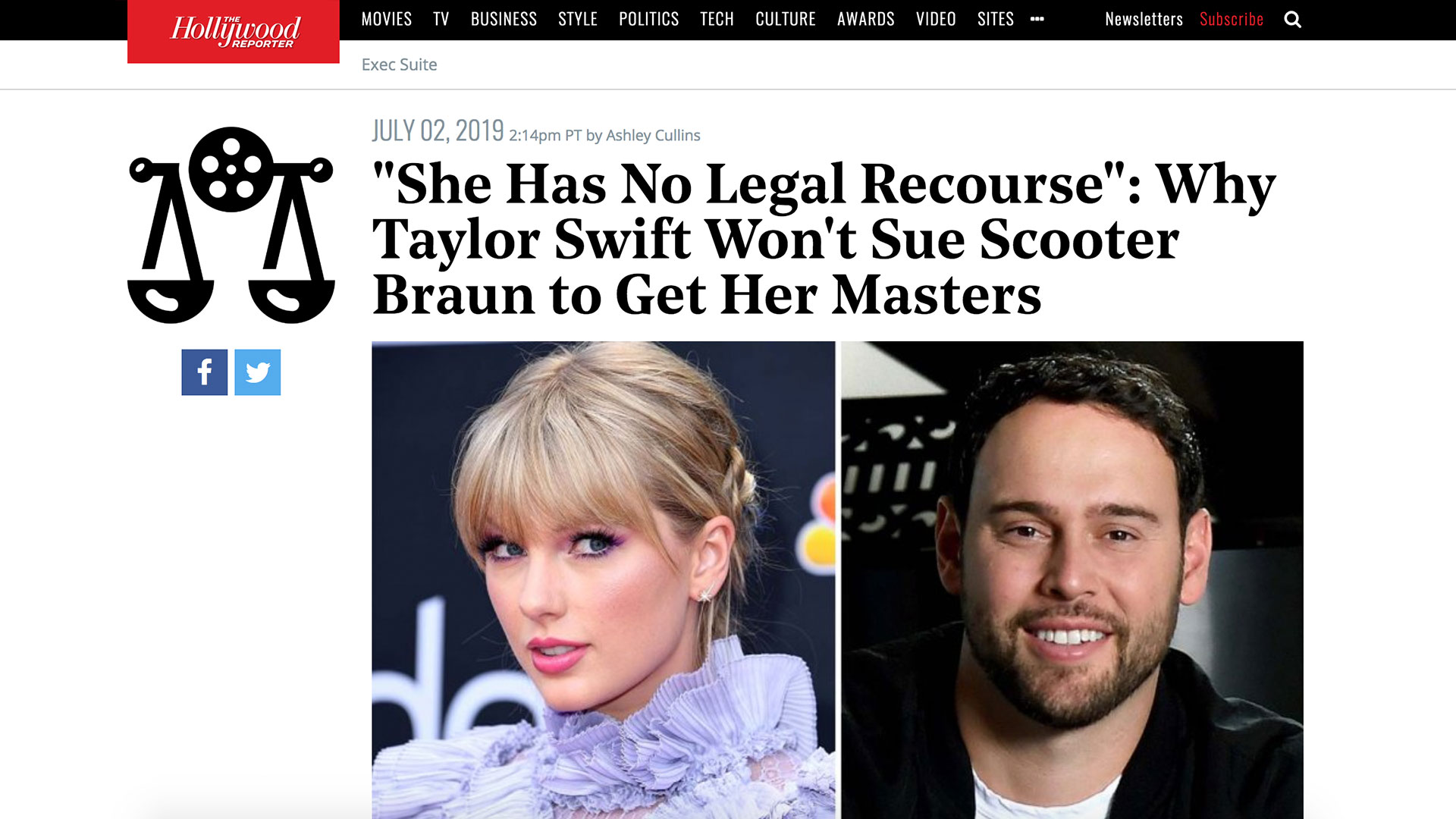 """Fairness Rocks News """"She Has No Legal Recourse"""": Why Taylor Swift Won't Sue Scooter Braun to Get Her Masters"""
