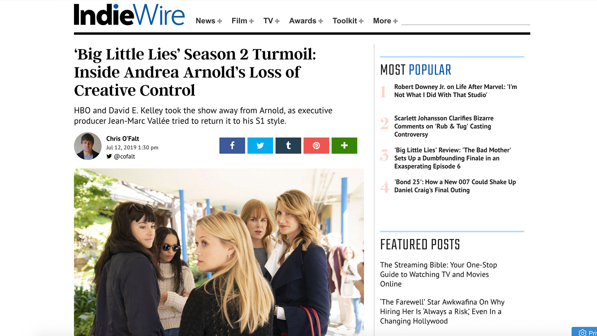 Fairness Rocks News 'Big Little Lies' Season 2 Turmoil: Inside Andrea Arnold's Loss of Creative Control