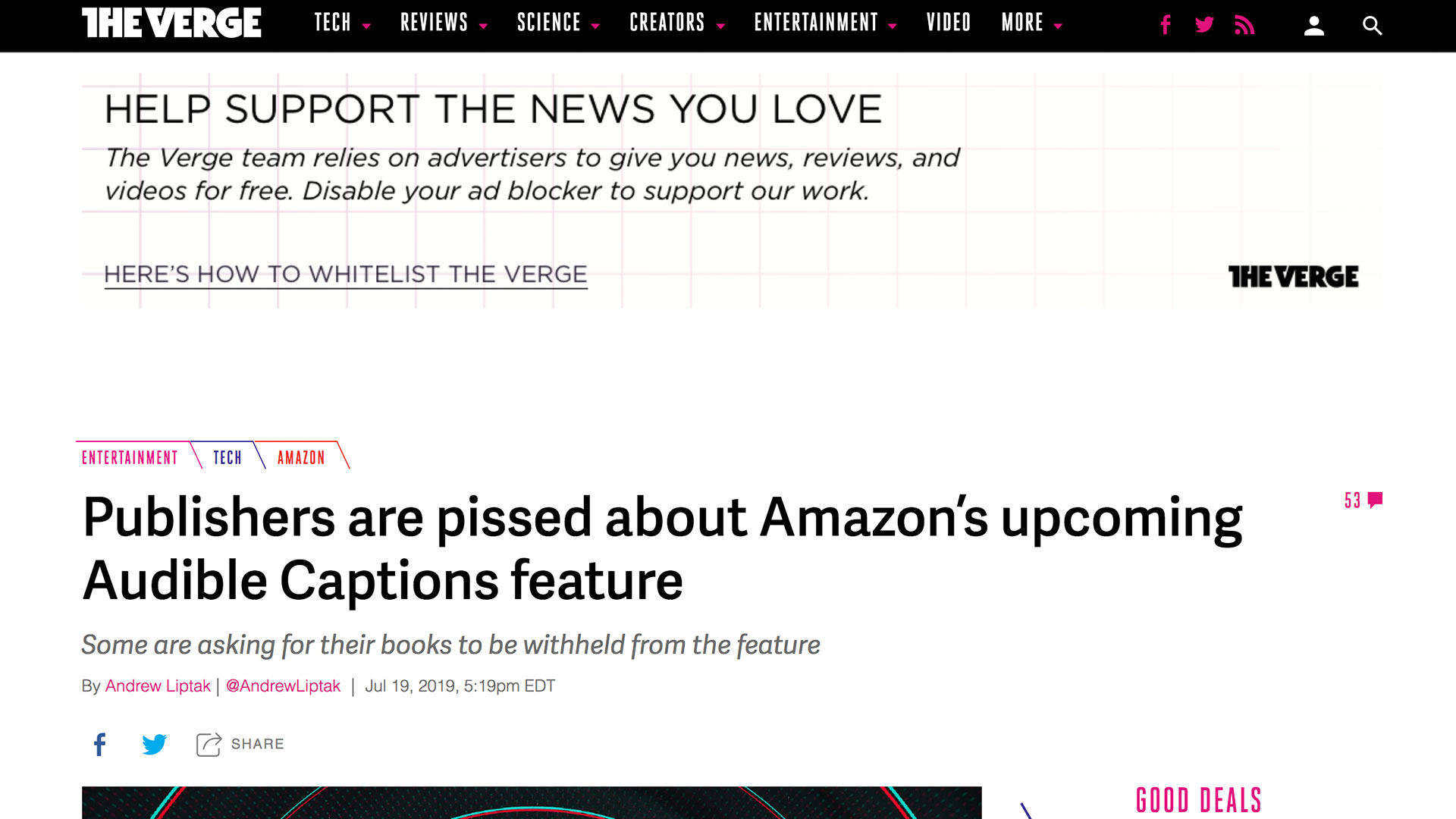 Fairness Rocks News Publishers are pissed about Amazon's upcoming Audible Captions feature