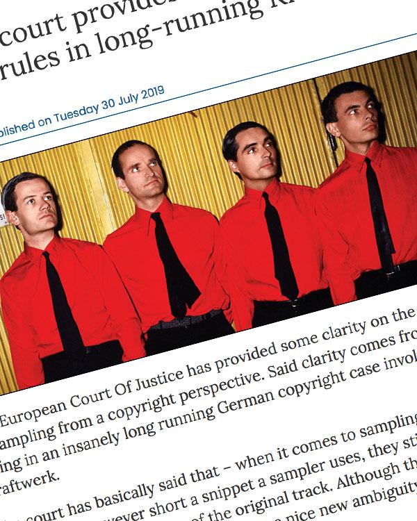 Fairness Rocks News European court provides clarity on sampling rules in long-running Kraftwerk case