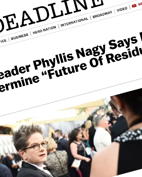 "Fairness Rocks News WGA Opposition Leader Phyllis Nagy Says Fight With Agents Could Undermine ""Future Of Residuals"""