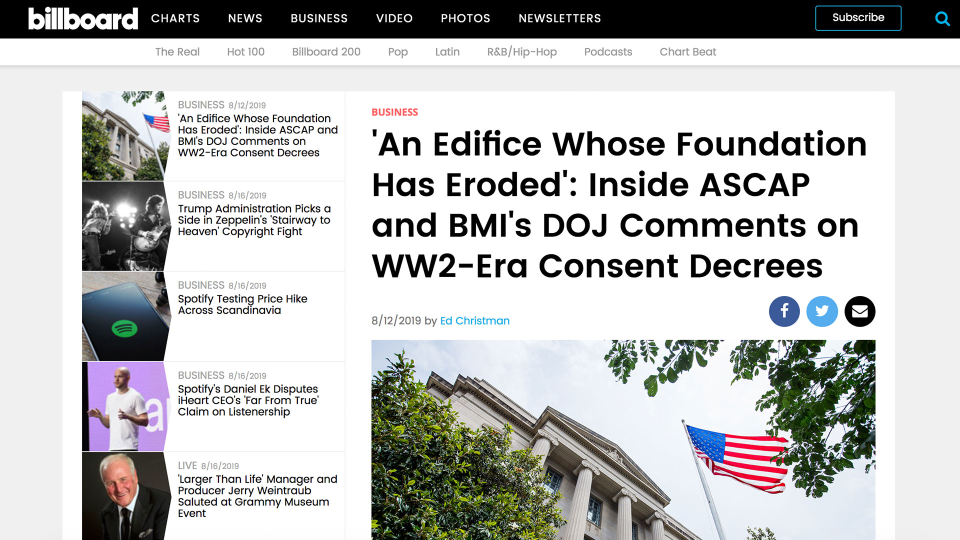 Fairness Rocks News 'An Edifice Whose Foundation Has Eroded': Inside ASCAP and BMI's DOJ Comments on WW2-Era Consent Decrees