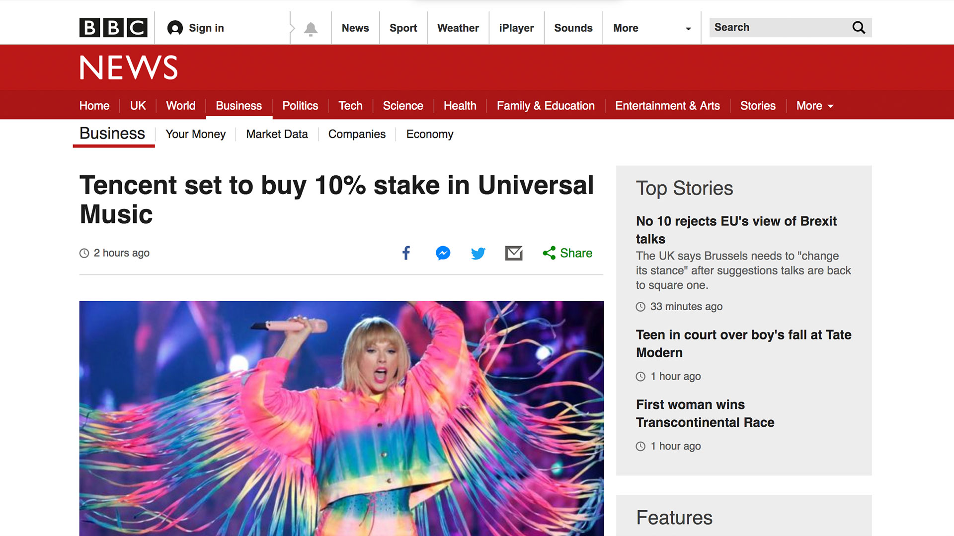 Fairness Rocks News Tencent set to buy 10% stake in Universal Music