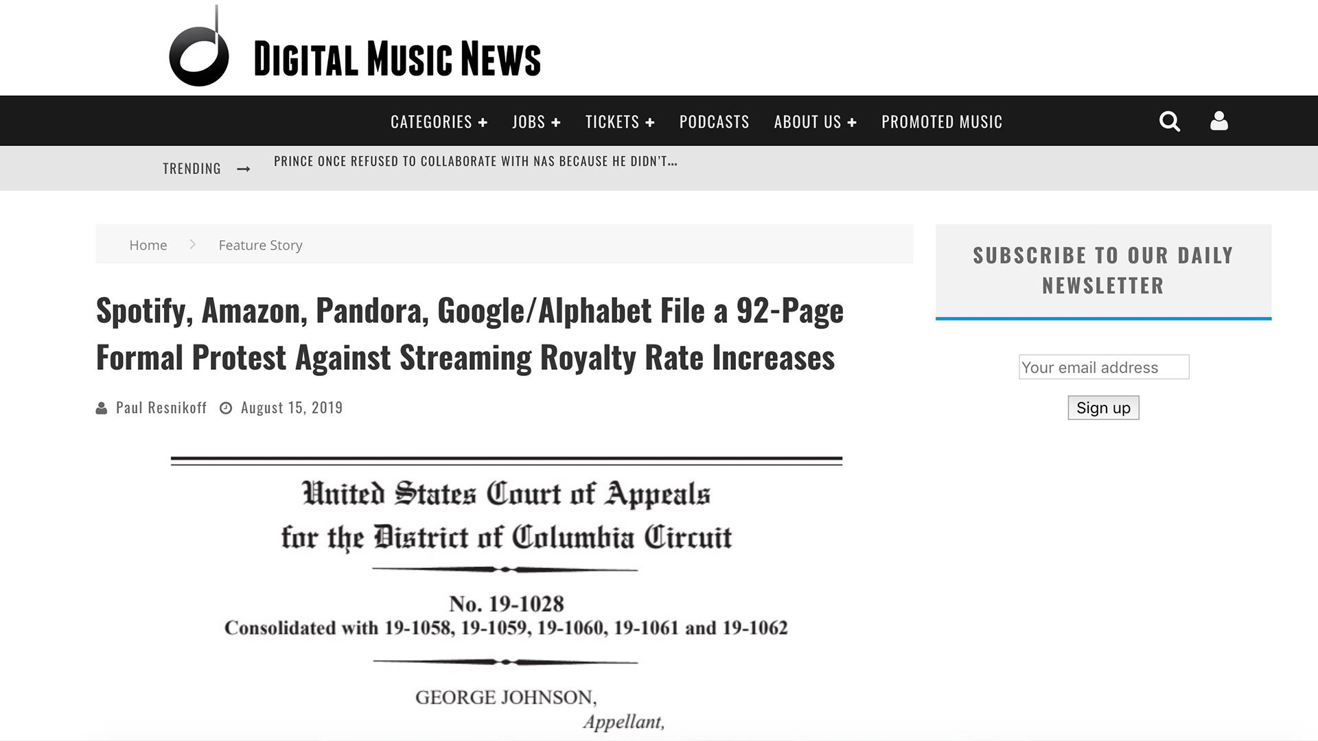 Fairness Rocks News Spotify, Amazon, Pandora, Google/Alphabet File a 92-Page Formal Protest Against Streaming Royalty Rate Increases