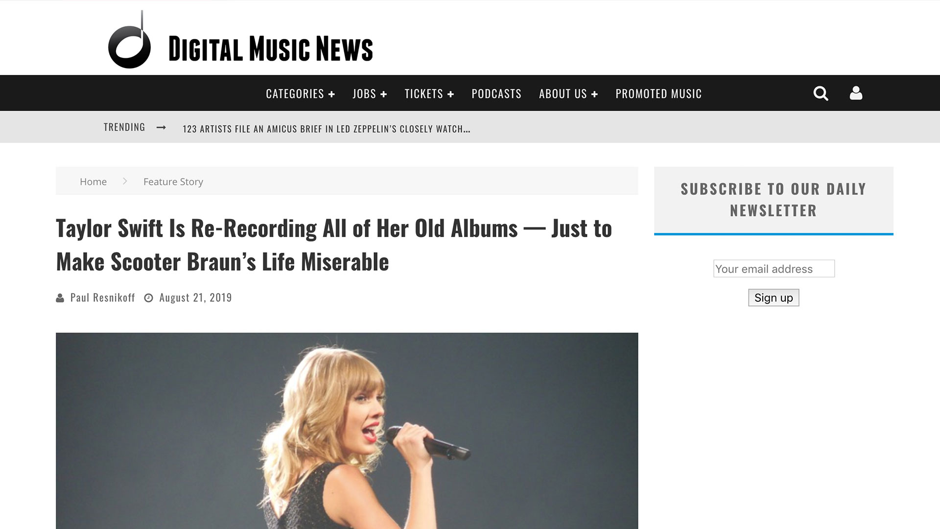 Fairness Rocks News Taylor Swift Is Re-Recording All of Her Old Albums — Just to Make Scooter Braun's Life Miserable