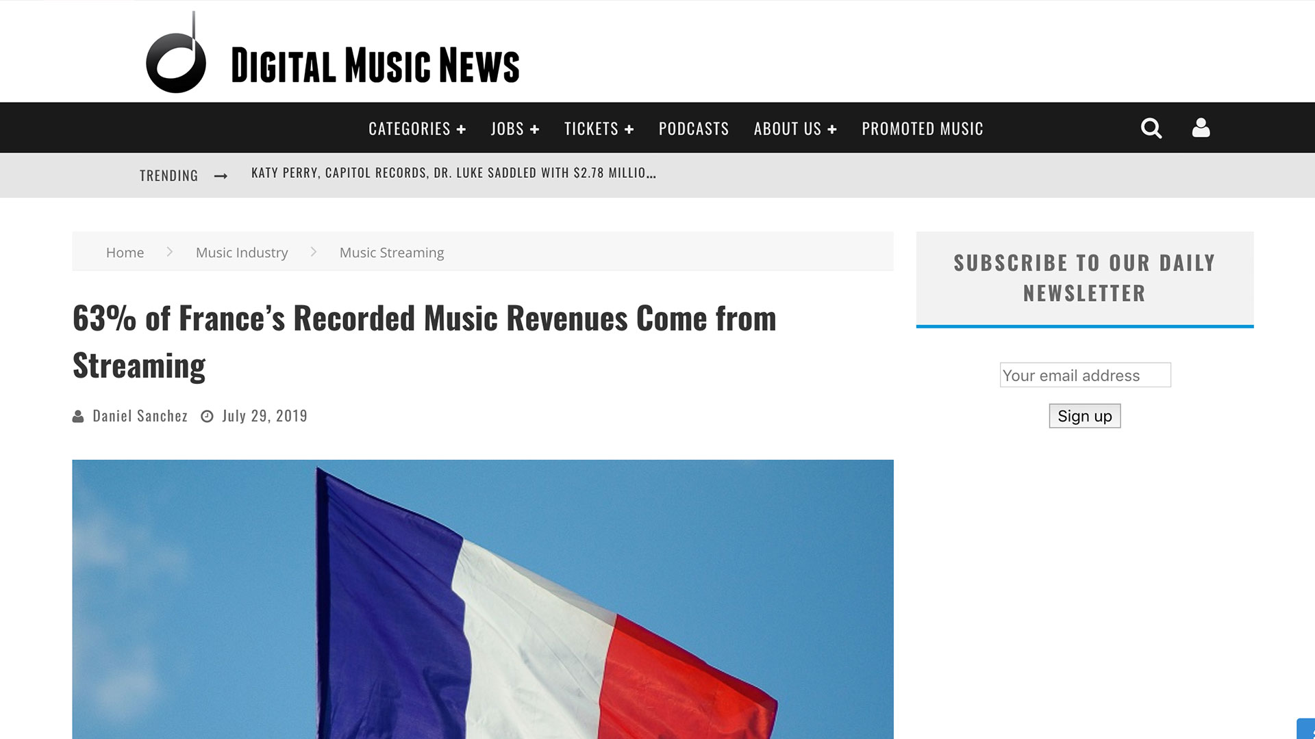 Fairness Rocks News 63% of France's Recorded Music Revenues Come from Streaming
