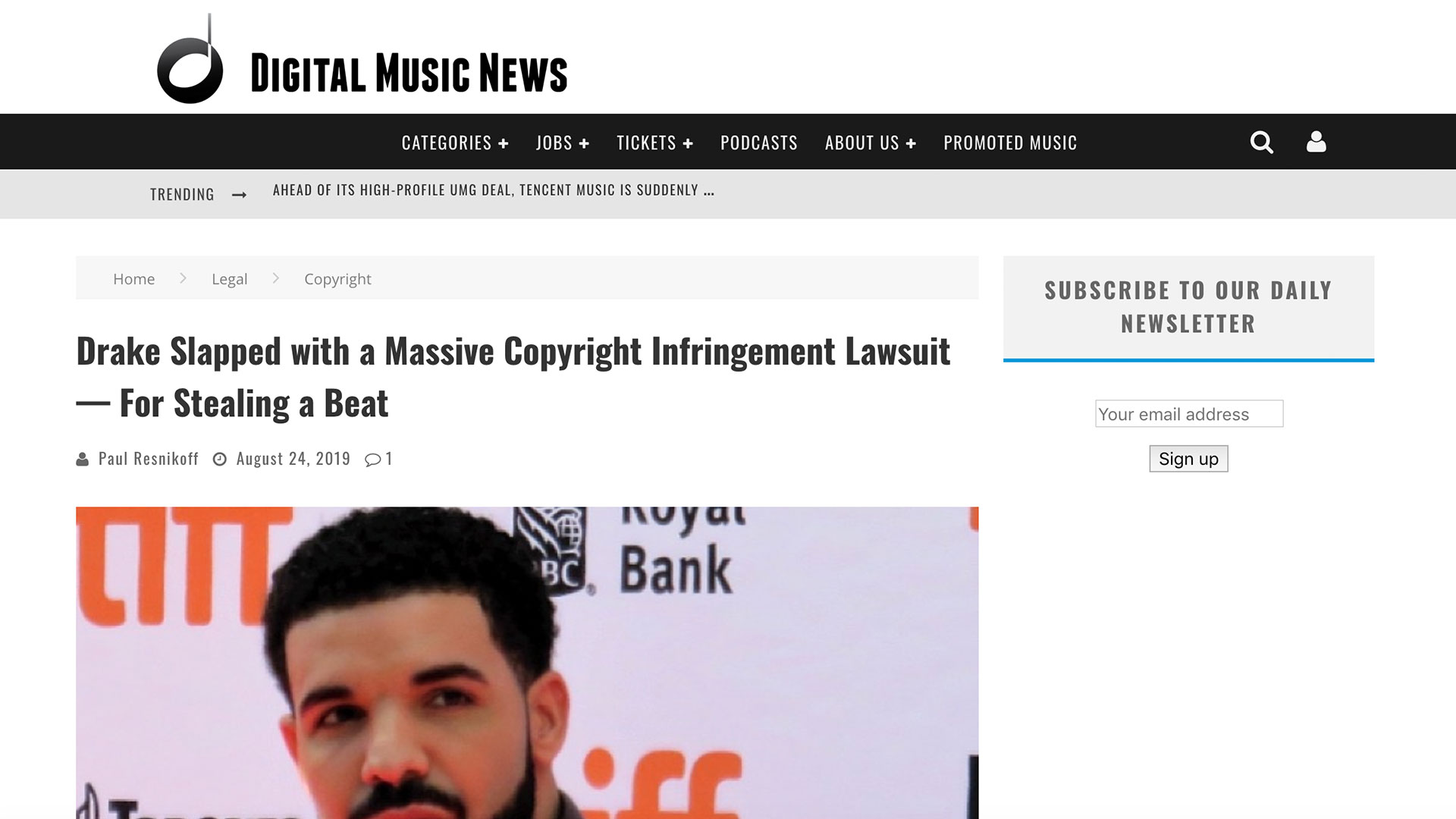 Fairness Rocks News Drake Slapped with a Massive Copyright Infringement Lawsuit — For Stealing a Beat