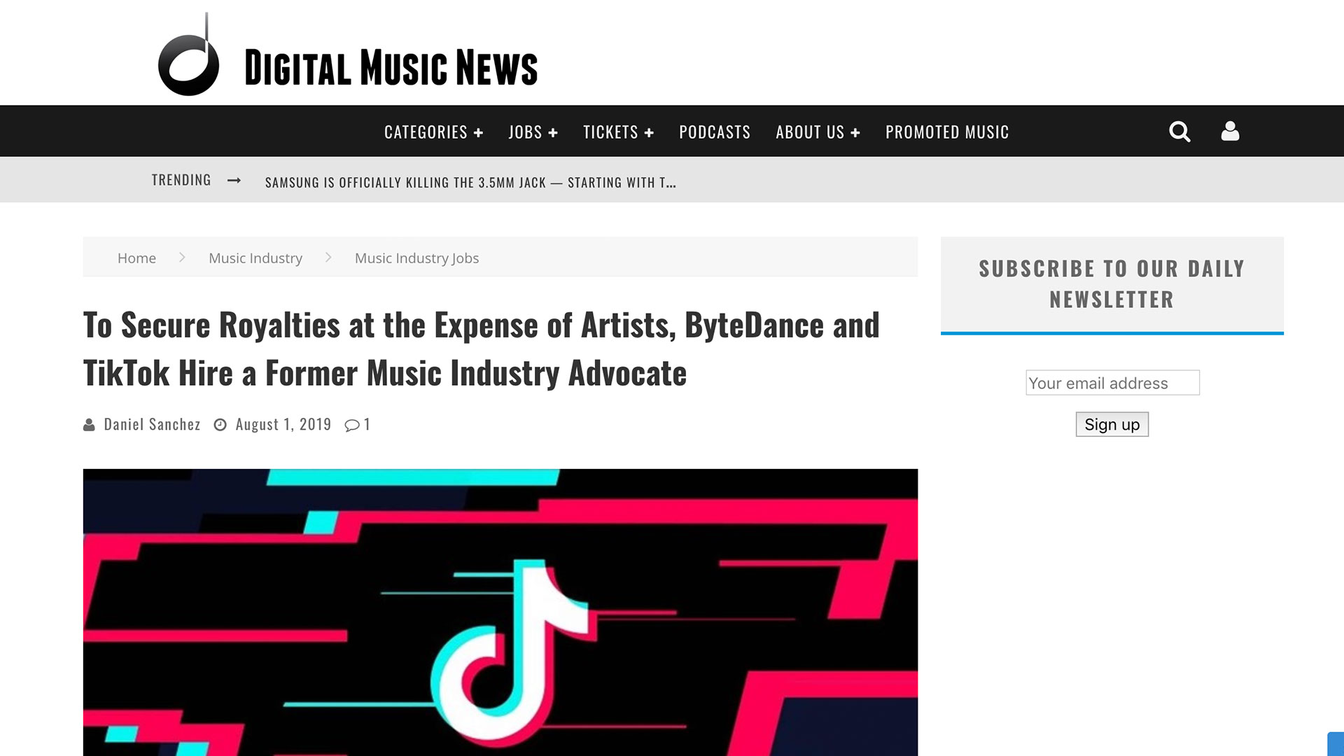 Fairness Rocks News To Secure Royalties at the Expense of Artists, ByteDance and TikTok Hire a Former Music Industry Advocate