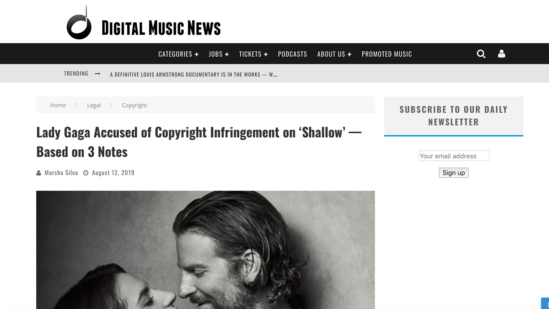 Fairness Rocks News Lady Gaga Accused of Copyright Infringement on 'Shallow' — Based on 3 Notes