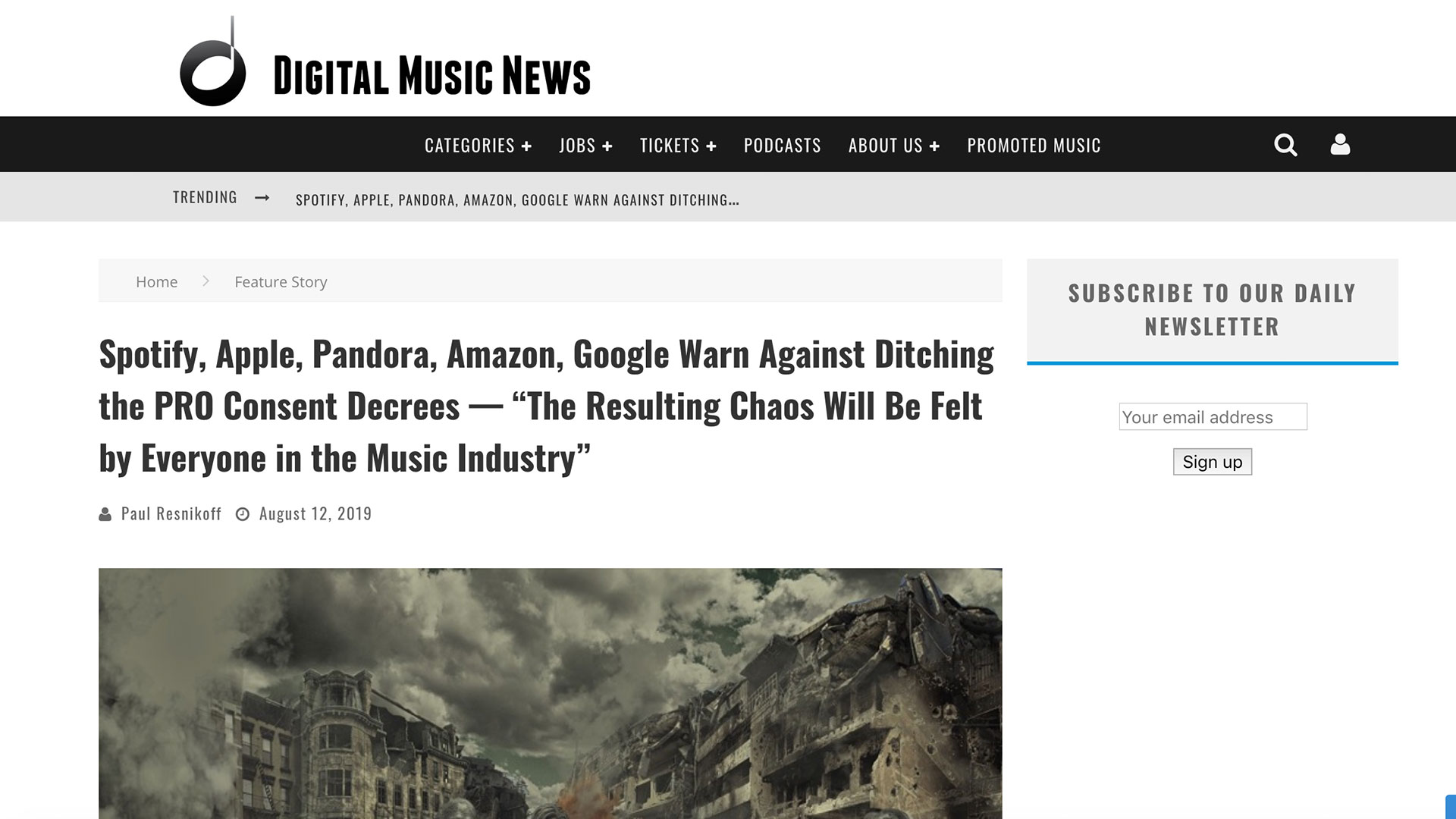 """Fairness Rocks News Spotify, Apple, Pandora, Amazon, Google Warn Against Ditching the PRO Consent Decrees — """"The Resulting Chaos Will Be Felt by Everyone in the Music Industry"""""""