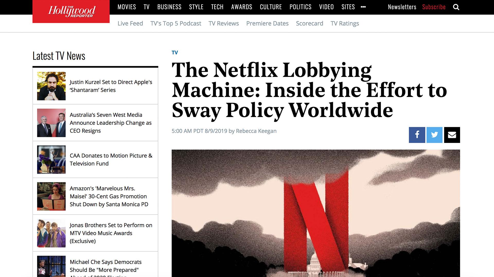 Fairness Rocks News The Netflix Lobbying Machine: Inside the Effort to Sway Policy Worldwide