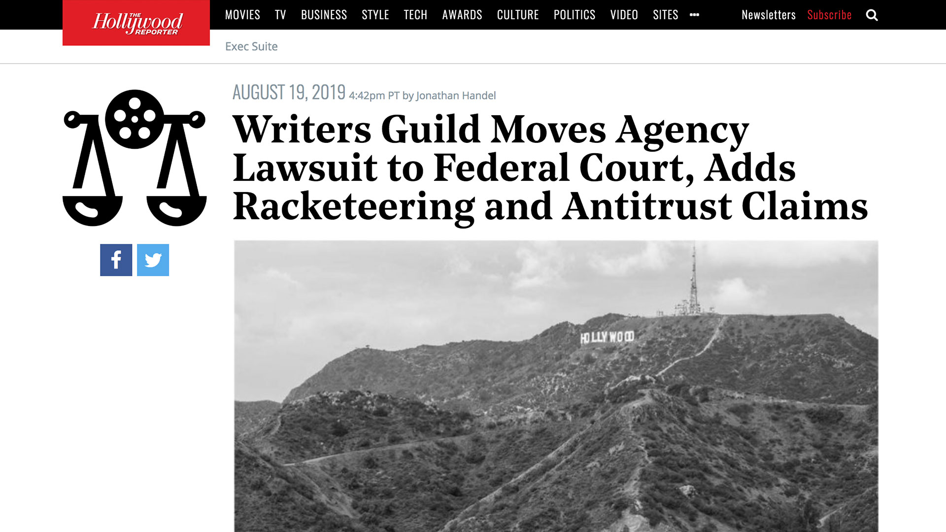 Fairness Rocks News Writers Guild Moves Agency Lawsuit to Federal Court, Adds Racketeering and Antitrust Claims