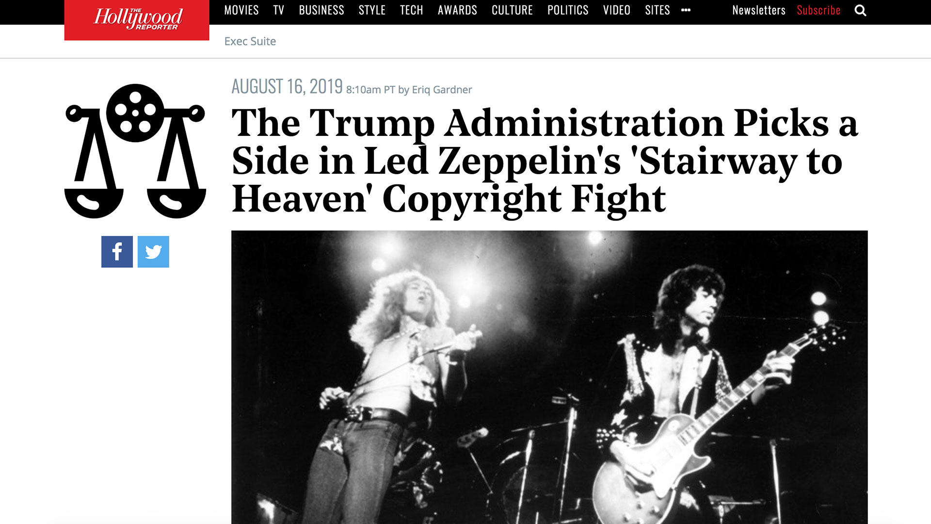 Fairness Rocks News The Trump Administration Picks a Side in Led Zeppelin's 'Stairway to Heaven' Copyright Fight