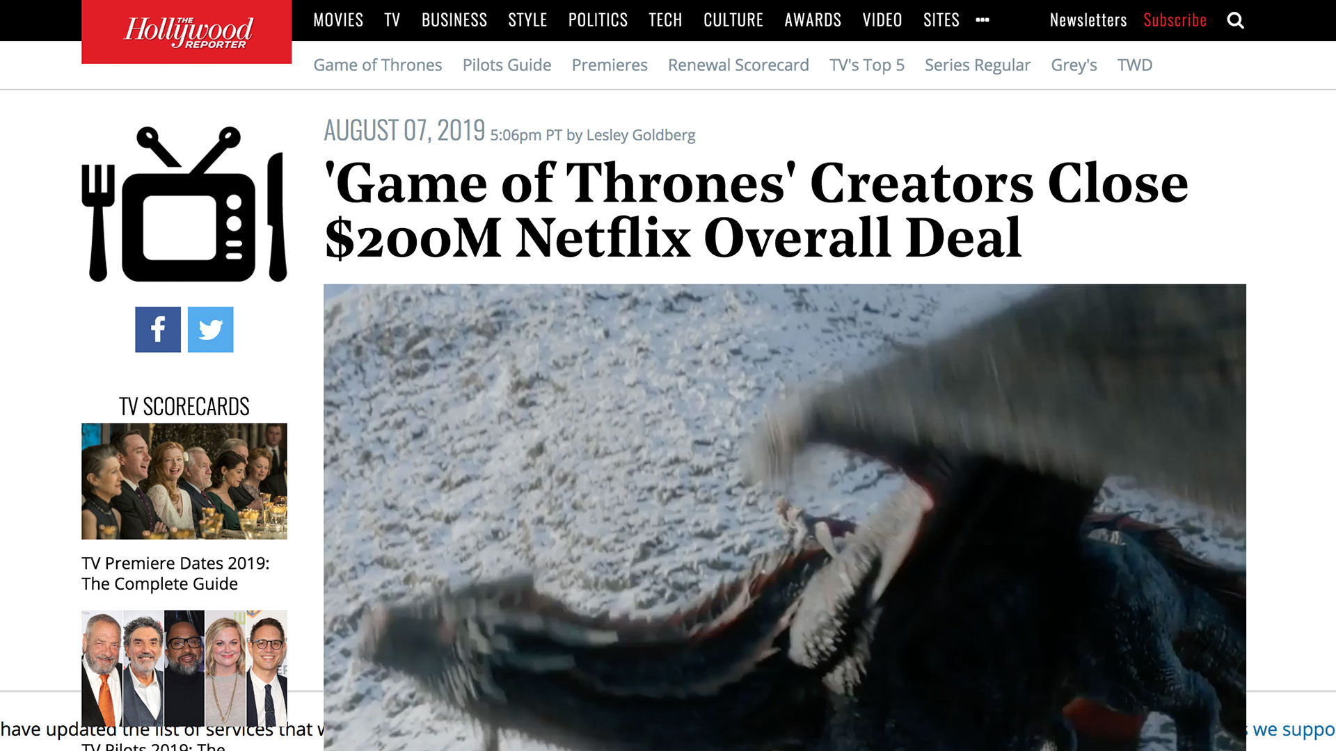 Fairness Rocks News 'Game of Thrones' Creators Close $200M Netflix Overall Deal