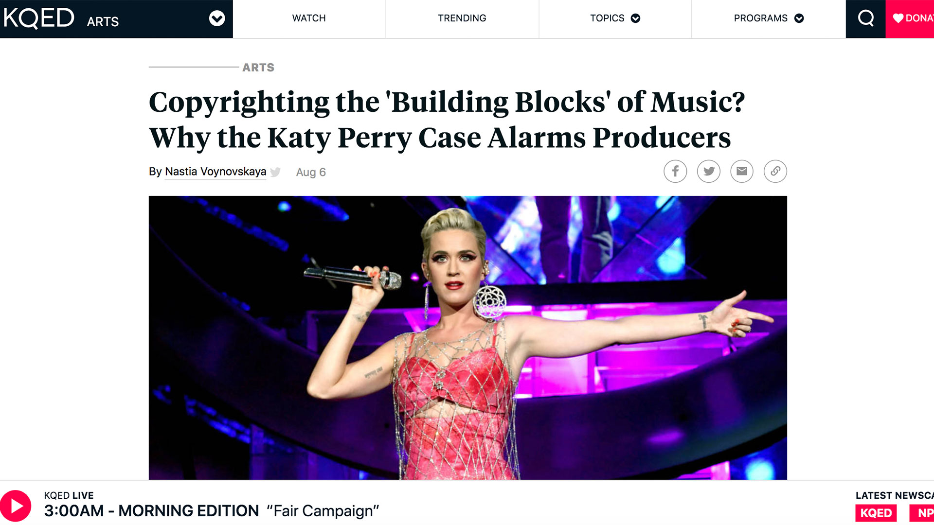 Fairness Rocks News Copyrighting the 'Building Blocks' of Music? Why the Katy Perry Case Alarms Producers