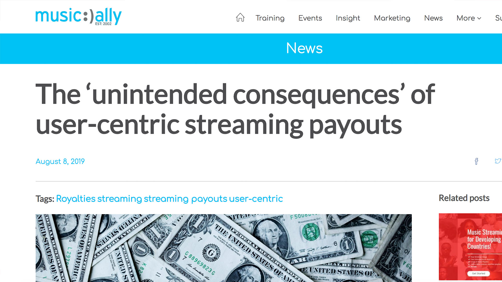 Fairness Rocks News The 'unintended consequences' of user-centric streaming payouts