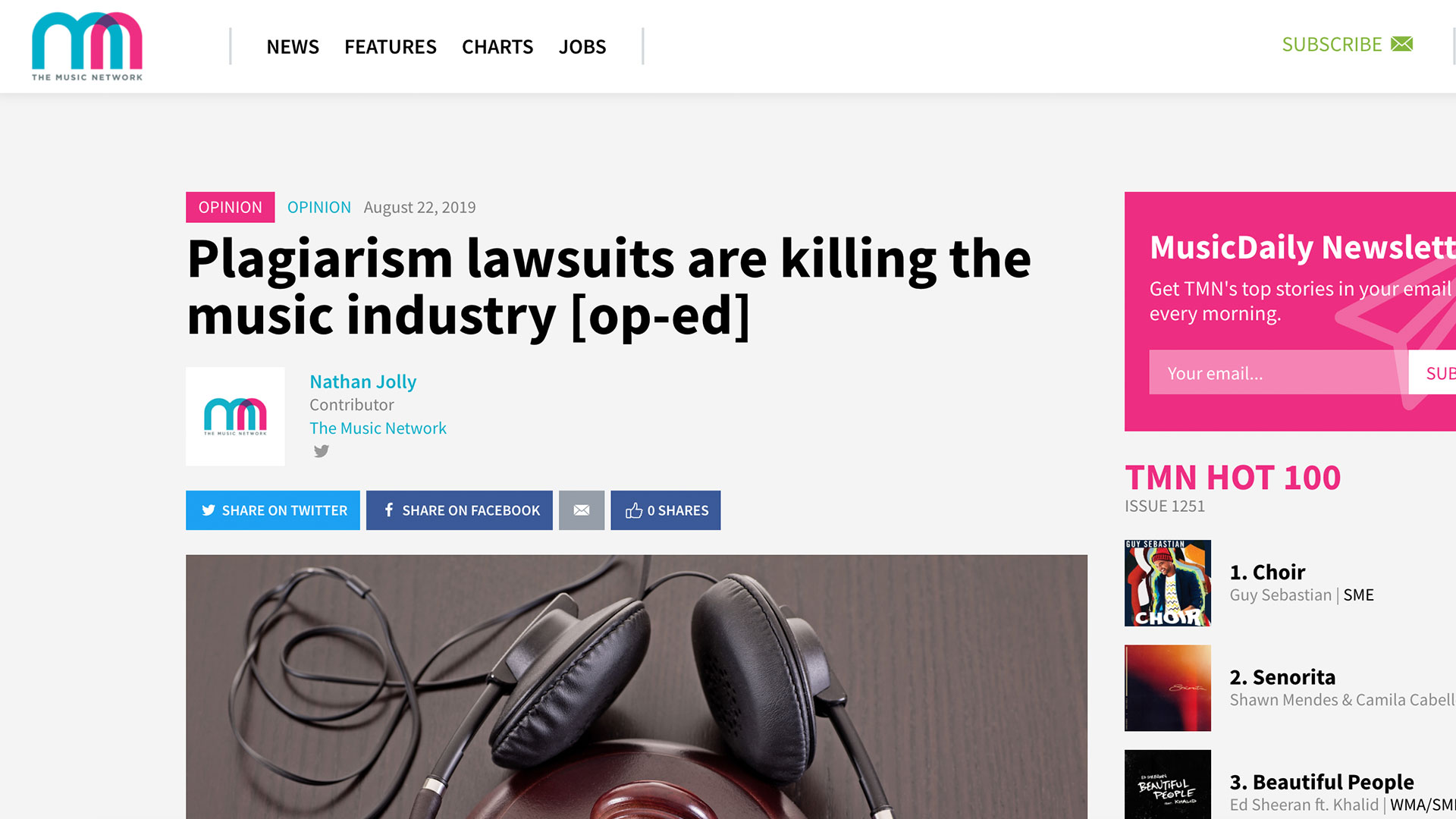Fairness Rocks News Plagiarism lawsuits are killing the music industry [op-ed]