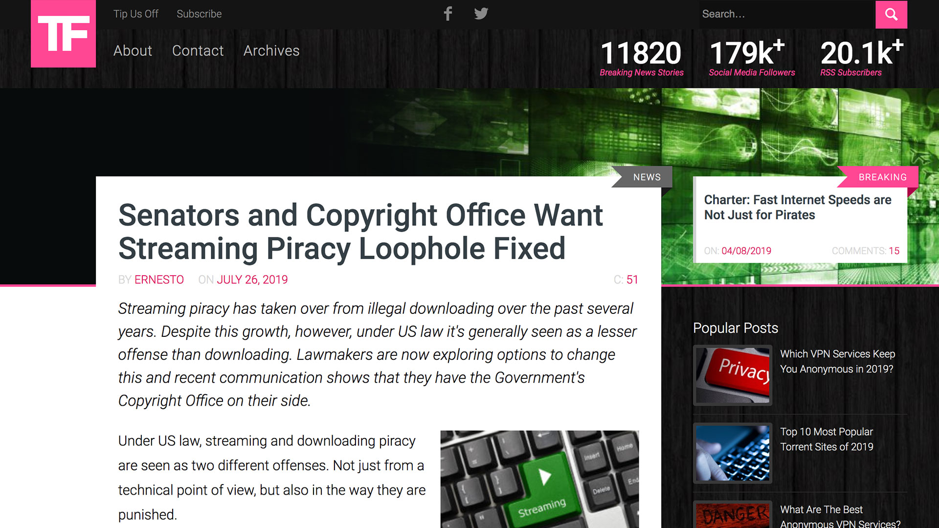 Fairness Rocks News Senators and Copyright Office Want Streaming Piracy Loophole Fixed