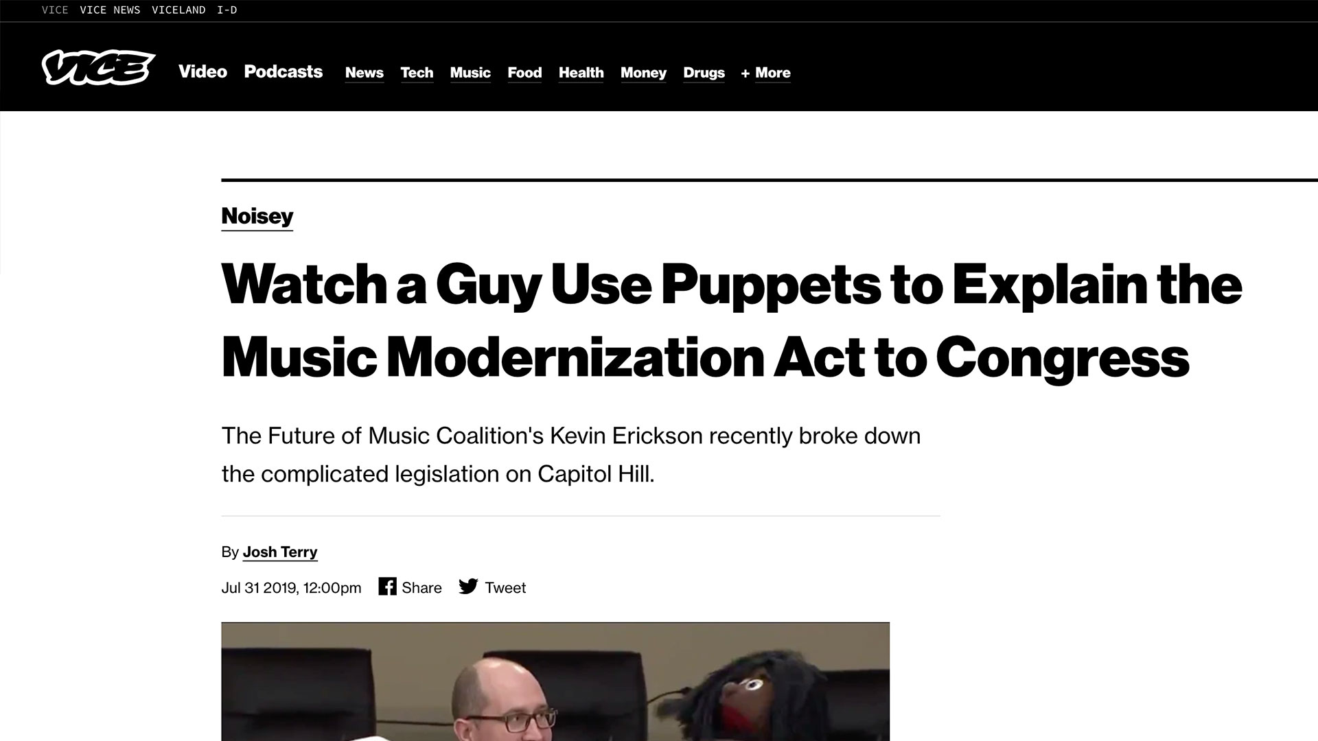 Fairness Rocks News Watch a Guy Use Puppets to Explain the Music Modernization Act to Congress