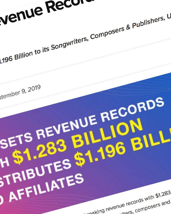 Fairness Rocks News BMI Sets Revenue Records With $1.283 Billion