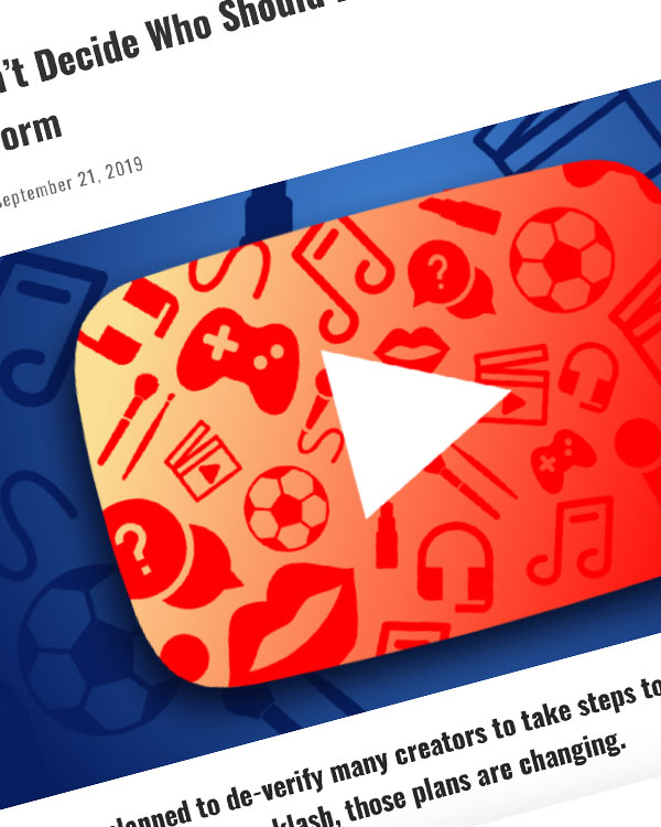 Fairness Rocks News YouTube Can't Decide Who Should Be Verified — Pisses Off Its Whole Platform