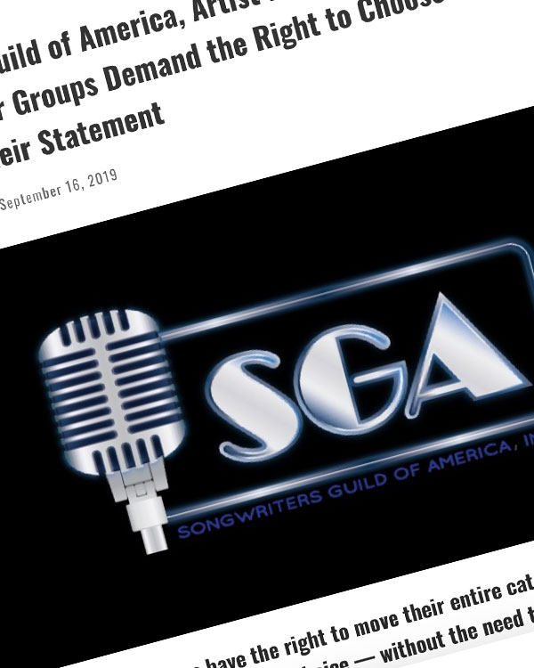 Fairness Rocks News Songwriters Guild of America, Artist Rights Alliance, SONA, 7 Other Creator Groups Demand the Right to Choose Their PROs — Here's Their Statement