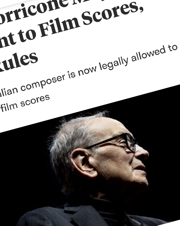 Fairness Rocks News Ennio Morricone May Reclaim Copyright to Film Scores, Judge Rules