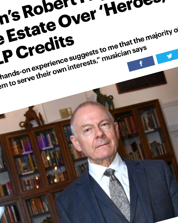 Fairness Rocks News King Crimson's Robert Fripp Spars With David Bowie Estate Over 'Heroes,' 'Scary Monsters' LP Credits
