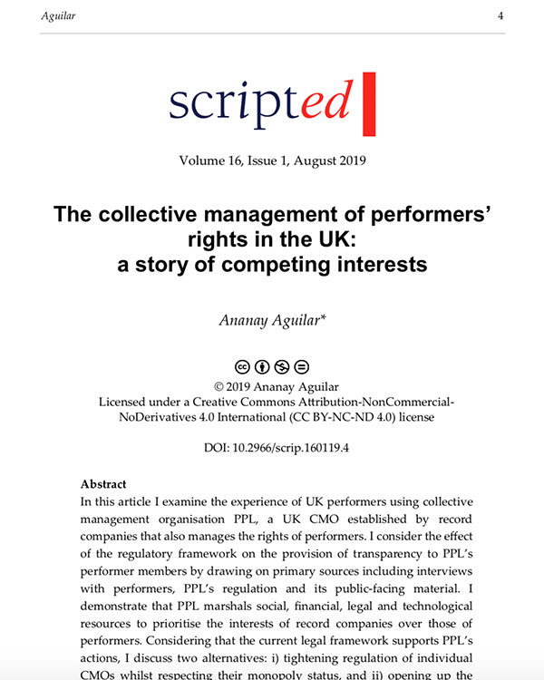 Fairness Rocks News The collective management of performers' rights in the UK: a story of competing interests