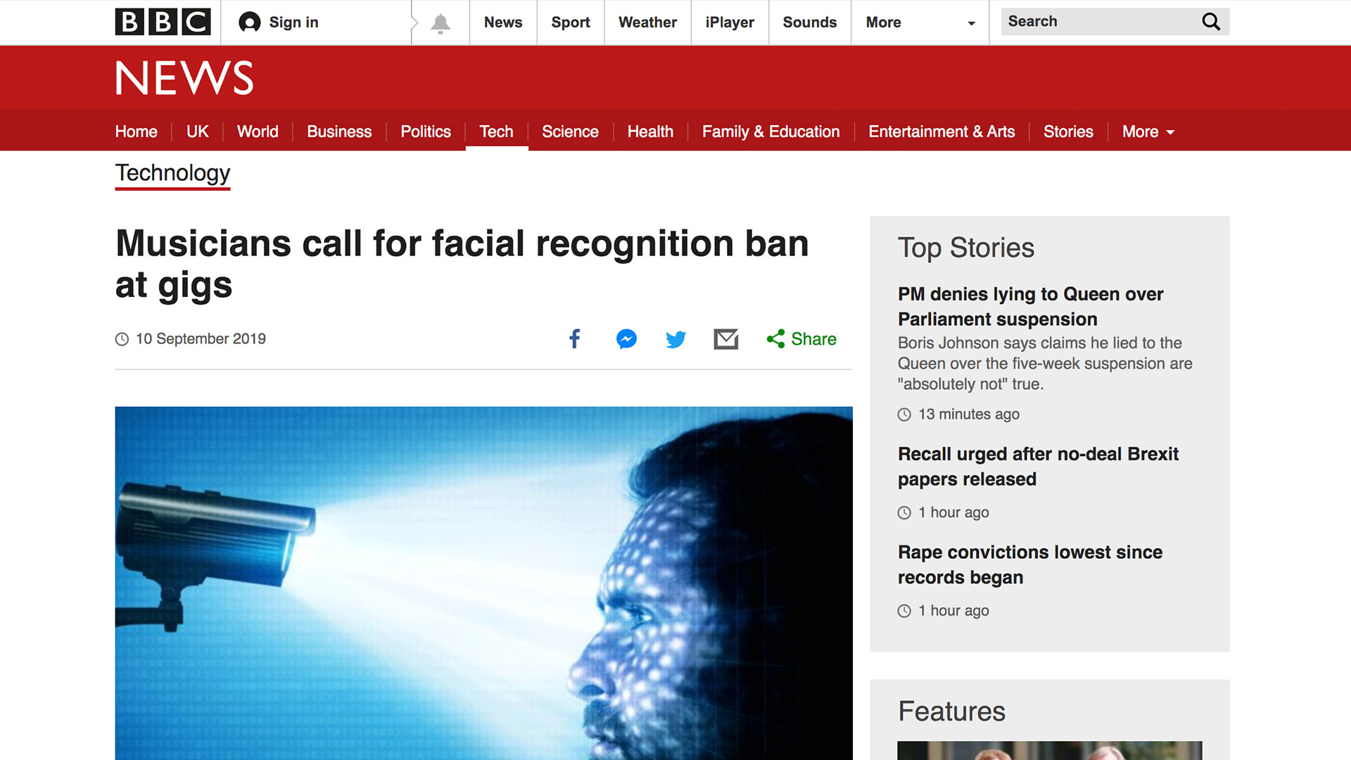 Fairness Rocks News Musicians call for facial recognition ban at gigs