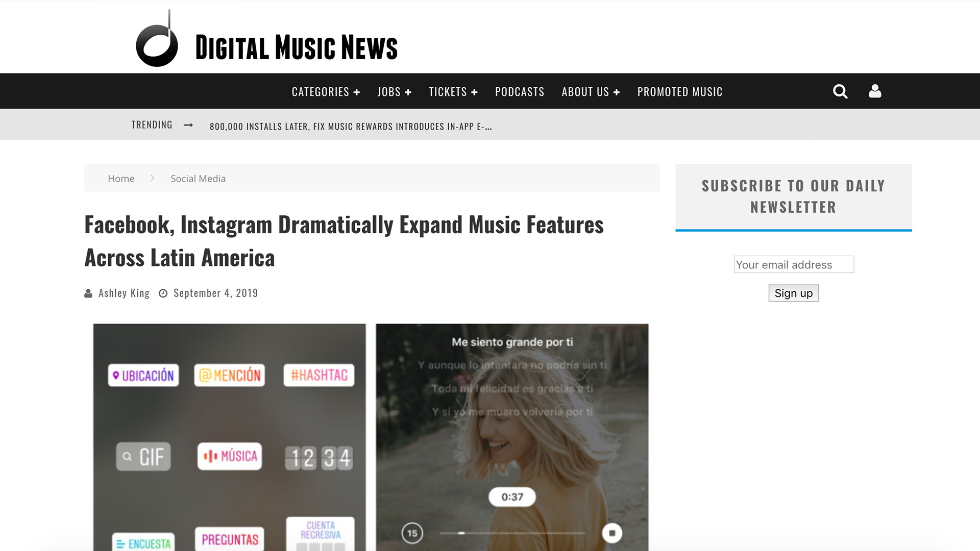 Fairness Rocks News Facebook, Instagram Dramatically Expand Music Features Across Latin America